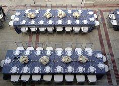 Gloria Wong Design - Wildflower Linen - Villa Montalvo wedding - blue and grey lace linens