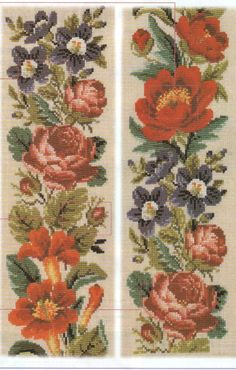 Old stitch chart Cross Stitch Borders, Cross Stitch Rose, Cross Stitch Flowers, Cross Stitch Designs, Cross Stitching, Cross Stitch Patterns, Embroidery Patterns Free, Vintage Embroidery, Embroidery Stitches