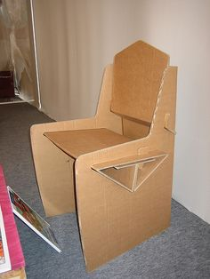 Portable Folding Cardboard Chair, Stool, Corrugated ...