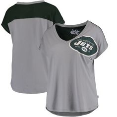 0c6fb30a7 New York Jets Touch by Alyssa Milano Women s First Down T-Shirt - Gray. Nfl  Sports ...