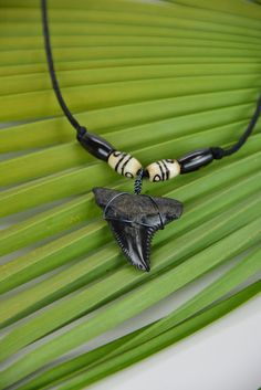 Snaggle Shark Tooth Necklace by JustBeadHappy2 on Etsy