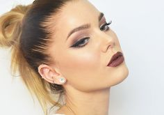 This classic brown smokey eye is perfect for the Thanksgiving festivities coming up!