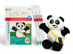 Little Pim German: 3 DVDs and plush panda.