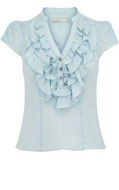 Washed silk blouse at karenmillen.com