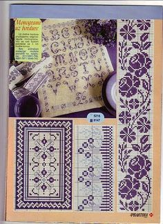#cross-stitch #lavender #bookmark , etc...