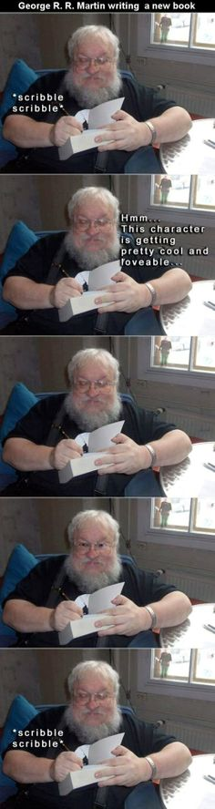 Let's Watch George R. R. Martin Write a New Book