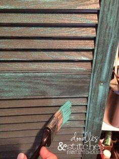 Repurposed Plastic Shutters - Doodles & Stitches