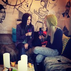 Chelsea chatting with Skylar Grey at Sundance 2012