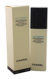 lait confort creamy cleansing milk comfort + anti-pollution face and eyes by chanel