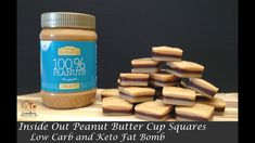 Inside Out Peanut Butter Cup Squares – Keto and Low Carb Source by lechtenbohmer Low Carb Recipes, Real Food Recipes, Clean Eating Sweets, Peanut Butter Snacks, Low Carb Deserts, Keto Snacks, Keto Desserts, Ketogenic Diet, Natural