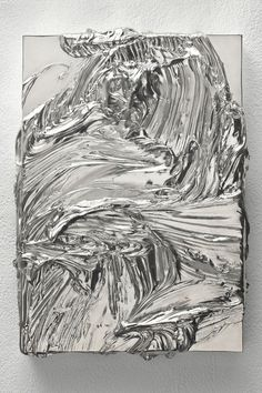 Jason Martin, Untitled (Nickel), 2010. Cast Nickel, 42 x 30 cm. Courtesy the artist and Lisson Gallery.  Jason Martin makes paintings about paint, its materiality, sculptural presence and transformative, alchemical nature.