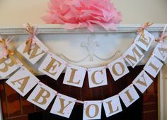 Welcome Home Banner for a new baby