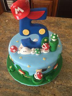 32 Brilliant Photo of Mario Bros Birthday Cake Mario Bros Birthday Cake This Mario Bros Theme Birthday Cake Became The Perfect Center Piece Mario Birthday Cake, Super Mario Birthday, Super Mario Party, Themed Birthday Cakes, 5th Birthday, Flower Birthday, Bolo Do Mario, Bolo Super Mario, Super Mario Bros