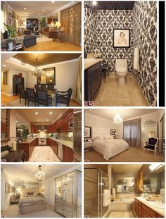 kim kardashian's house is a lot like my style. love love