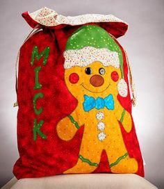 Penguin – Gingerbread Santa Sac Pattern