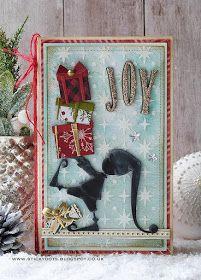 Christmas Paper Crafts, Christmas Elf, Handmade Christmas, Holiday, Scrapbooking, Scrapbook Cards, Big Shot, Tim Holtz Dies, Sizzix Dies