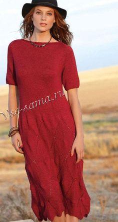 Элегантное красное платье, фото