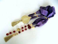Valentine's Day Gift   Scarf Necklace  Jewelry  OOAK by GULDENTAKI, $75.00