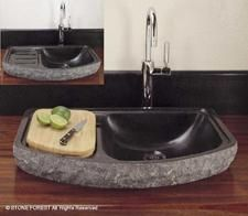 above surface sink design  Wouldn'y this be great on the island! ? !