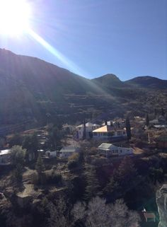 View from Castle Rock looking toward Quality Hill in Bisbee.  Photo contributed by Richard Powers.