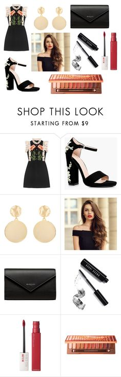 """15"" by kfhfkkb on Polyvore featuring мода, Gucci, Boohoo, Mounser, Balenciaga, Bobbi Brown Cosmetics, Maybelline и Urban Decay"
