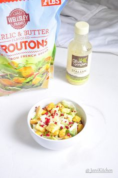 Lettuce Salad with Olive Garden Italian dressing