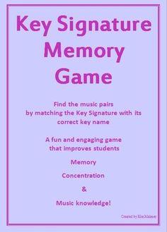 Key Signature Memory Game