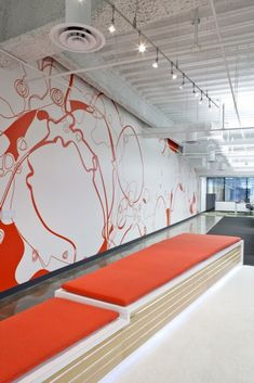 Modern Studio Or Office Decor With Style Of Fantasy Extraordinary Office Wall Art Design Ideas Office Wall Design, Office Wall Decals, Office Mural, Office Walls, Office Interior Design, Office Decor, Design Offices, Modern Offices, Office Spaces