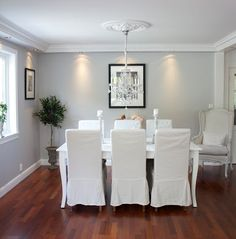 Dining Room White Decor