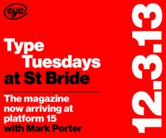 Type Tuesday at St Bride with Mark Porter