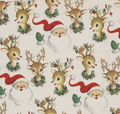 Cute old wrapping paper