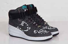 "Releasing: WMNS Nike x Liberty ""Belmont Ivy Black"" Lunar Force 1 Sky Hi, Air Max 1 Mid & Internationalist Mid"