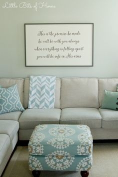 DIY framed wood sign tutorial, great for filling in a blank wall with something chic but personalized
