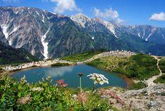 Happo-ike Pond, Hakuba, Nagano, japan