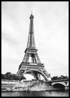 Framed black and white Eiffel Tower poster Poster Prints, Framed Prints, Art Prints, Eiffel Tower Art, Online Posters, Fashion Art, Black And White, Wall Art, Creative