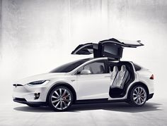Elon Musk the Founder and CEO of Tesla Motors unveiled the Model X, a Fully Electric SUV. The SUV is as powerful as the Tesla's sedan the Model S and even matches the acceleration benchmark of sec for run. Tesla Motors, Tesla Modelo X, Bmw Z4 Roadster, Bmw X7, Elon Musk, Nikola Tesla, Safest Suv, Products, Lineman