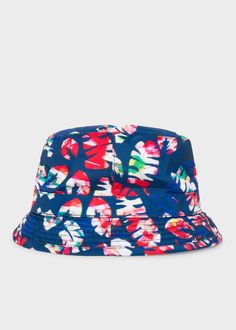 5cb43904803 Men s Blue  Palm Leaf  Bucket Hat Paul Smith Bucket Hat
