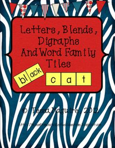 Letters, Blends, Digraphs, and Word Family tiles freebie Reading Binder, Phonics Reading, Teaching Reading, Teaching Ideas, Guided Reading, Education And Literacy, Kindergarten Literacy, Literacy Activities, Literacy Centers