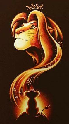 Nette neue Tapetenpasswort Ideen Cute new wallpaper password ideas Art Roi Lion, Lion King Art, Lion Art, The Lion King, Lion King Drawings, King Simba, Disney Phone Wallpaper, New Wallpaper, Cartoon Wallpaper