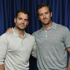 (EXCLUSIVE COVERAGE) Actors Henry Cavill and actor Armie Hammer pose for a photo during SiriusXM's Entertainment Weekly Radio 'The Man from U.N.C.L.E.' Town Hall with Guy Ritchie, Henry Cavill and Armie Hammer on August 12, 2015 in New York City.  (Photo by Cindy Ord/Getty Images for SiriusXM)
