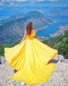 Yellow flowy long dress with train by Ninelly Smoke Photography, Girl Photography Poses, Creative Photography, Fashion Photography, Stylish Dresses, Fashion Dresses, Dps For Girls, Royal Dresses, Flowy Dresses