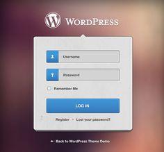 WordPress login form PSD