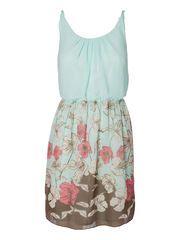 RIKLA BORDER SHORT DRESS TN W/O NECKLACE #dress #floral @VERO MODA
