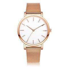 LVPAI Reloj Ladies Gold Stainless Steel Watches Women Simple Design Analog Quartz Watch Women's Clock Bracelet Relogio Montre - Online Shopping for Watches Cheap Luxury Watches, Rolex, Go For It, Mesh Band, Fashion Watches, Women's Watches, Watches Online, Nice Watches, Gents Watches