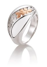 Breuning ring | 42-03208-0| zilver rozé ceramiek #breuning #breuningsieraden #breuningring #ring #kerstsieraad