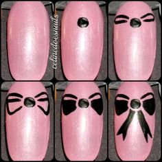 Bow manicure nail art tutorial. Gorgeous