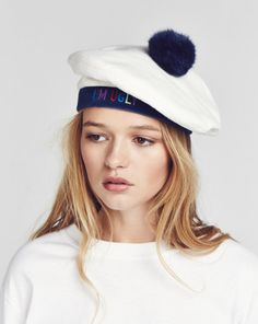 Aymmy in the Batty Girls I'm Ugly White Beret