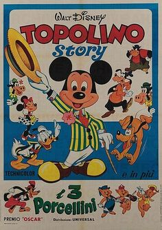 Movie Posters for sale at auction. Buy vintage movie posters here! Check out our sales results, and image archive. Movie Posters For Sale, Disney Posters, Little Pigs, Vintage Movies, Old And New, Pop Culture, Mickey Mouse, Auction, History