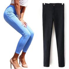 Stretch Jeans For Women Elastic Autumn Jeans Woman Skinny Trousers High Waist…