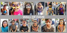Face Painting Wall of Fame - http://www.redlandmarketvillage.com/face-painting-wall-of-fame/
